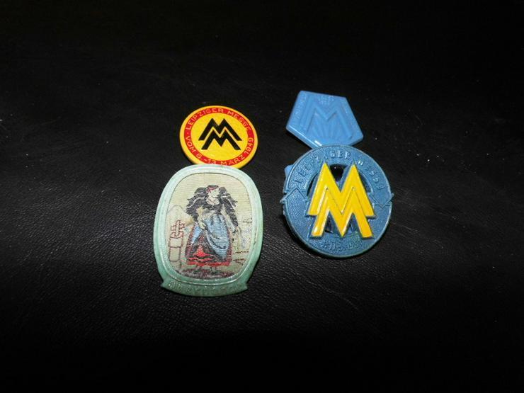 5 historische Anstecknadeln - Abzeichen / Leip