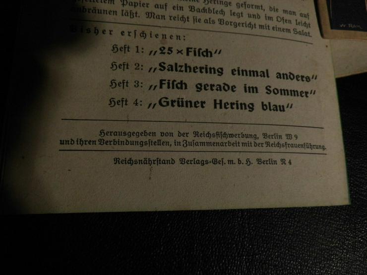 Bild 6: 5 antike Rezepthefte von 1936/37 Krabben, Heri