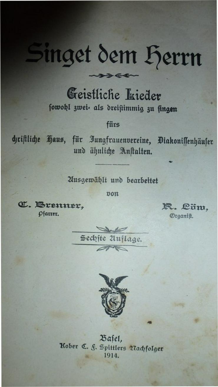 Singet dem Herrn Christliche Lieder. - Religion & Lebenshilfe - Bild 1