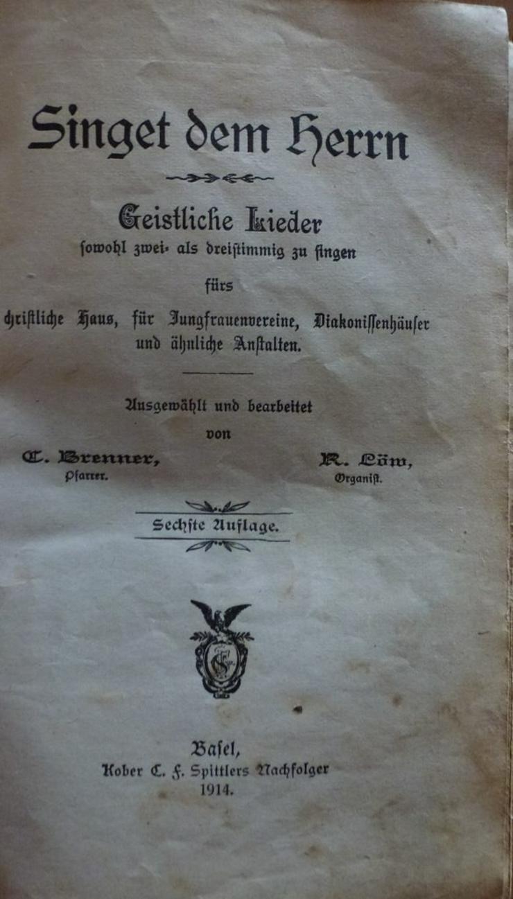 Bild 4: Singet dem Herrn Christliche Lieder.