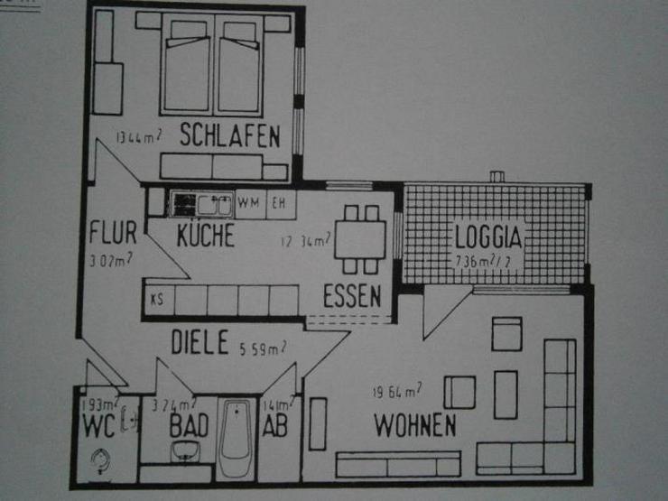 Bild 6: ***** Verkauft *****Sehr schön geschnittene 2 ZKB mit Loggia und TG-Stellplatz