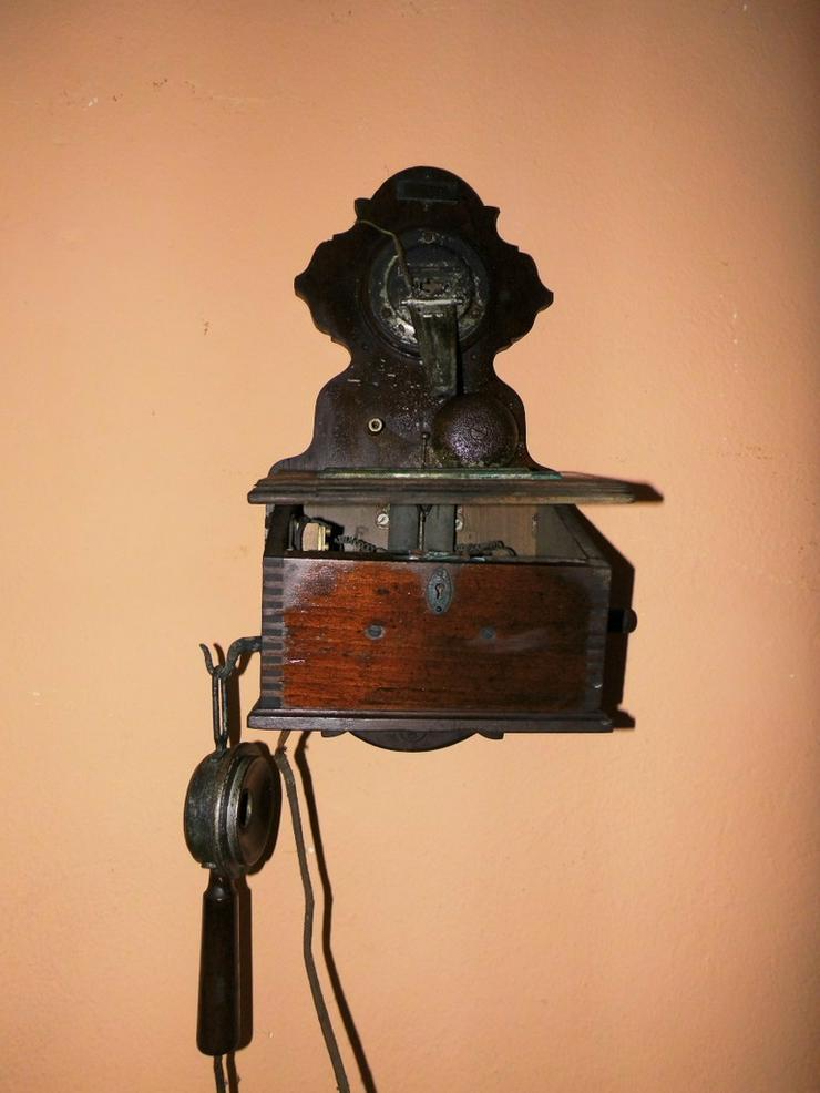 Antike Fernsprechwandstation Stf M1900 von F.