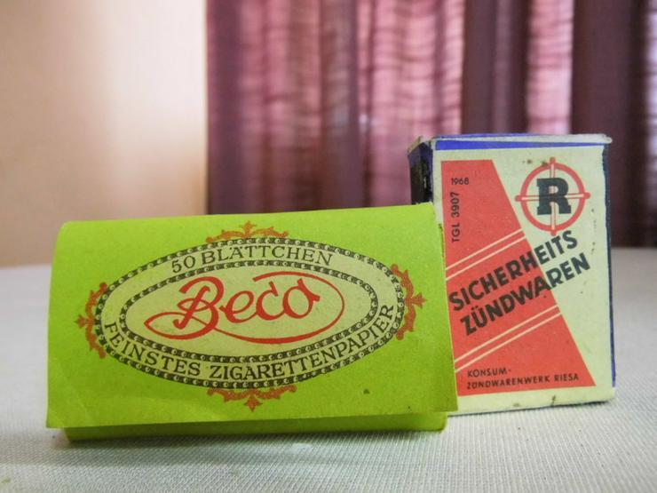 Alte Streichholzschachtel Spanholz Konsum Zünd