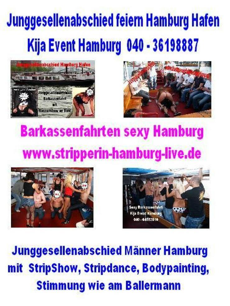 JGA Barkassenfahrten moin Hamburg für Männer