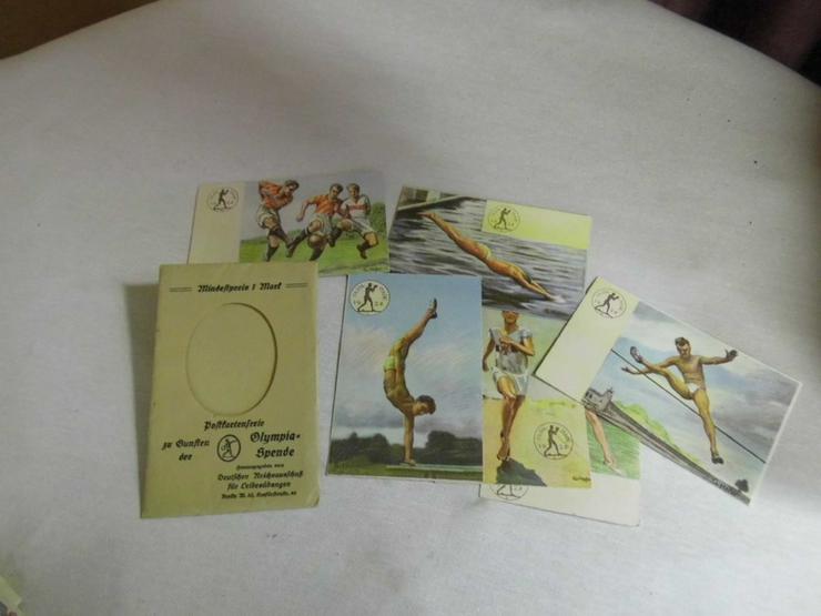 Antike Postkartenserie zu Gunsten der Olympias