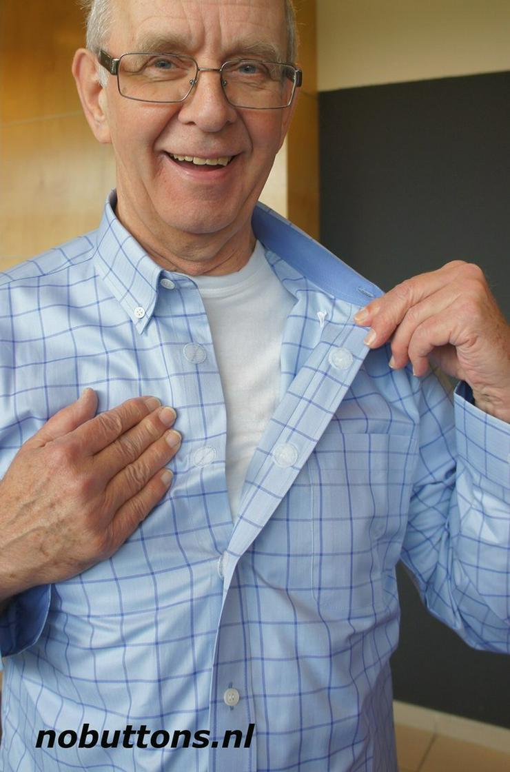 Herrenhemden mit Klettverschluss.Einfach offnen