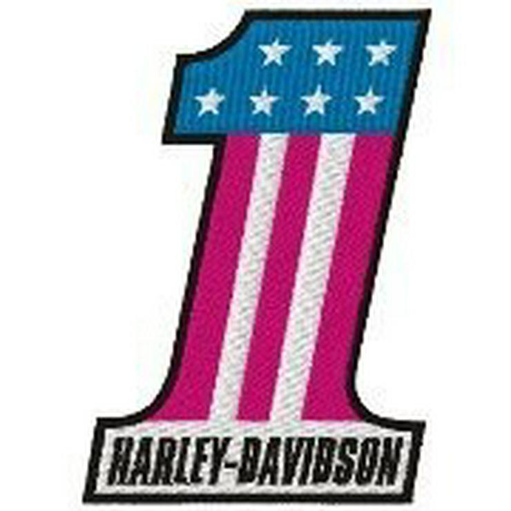 HARLEY-DAVIDSON No.1 USA PATCH - NEU