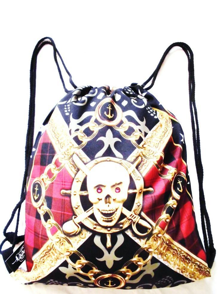 Neuer Gym Bag-Sportbeutel-Rucksack-Pirat
