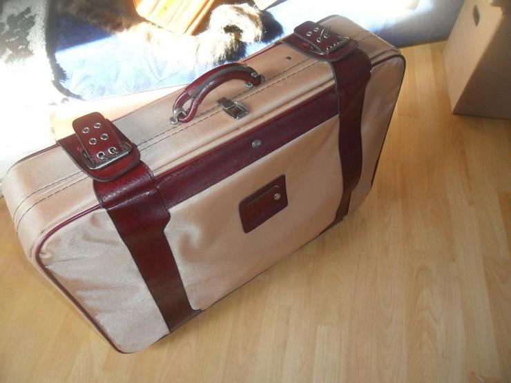 Bild 2: Reisekoffer mit Leder abgesetzt