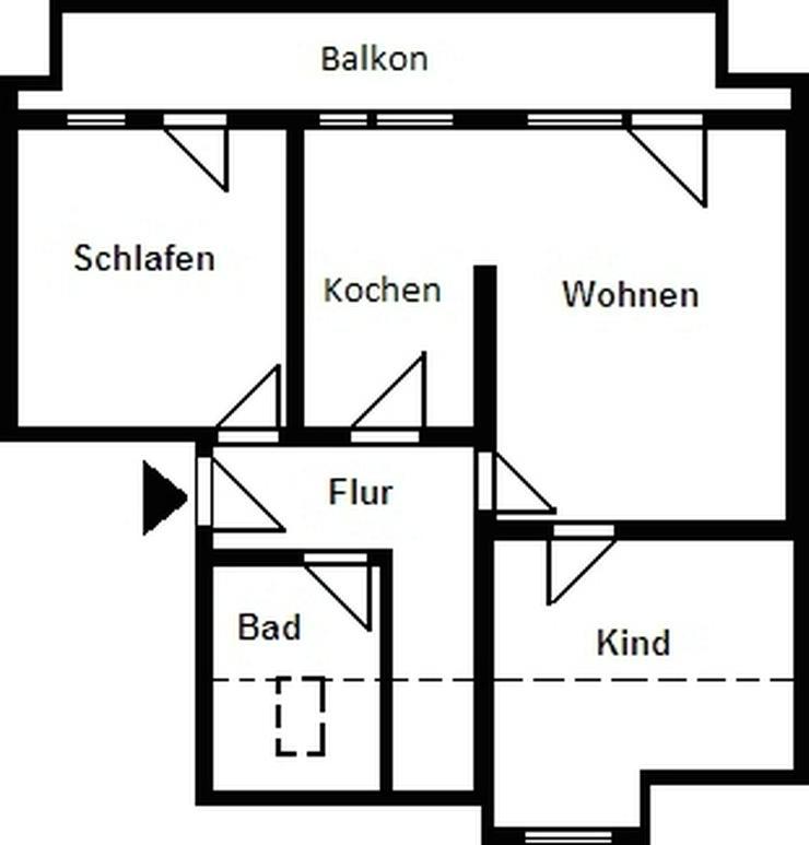 Bild 2: 3-Raum-Wohnung in der Nähe von Dresden!