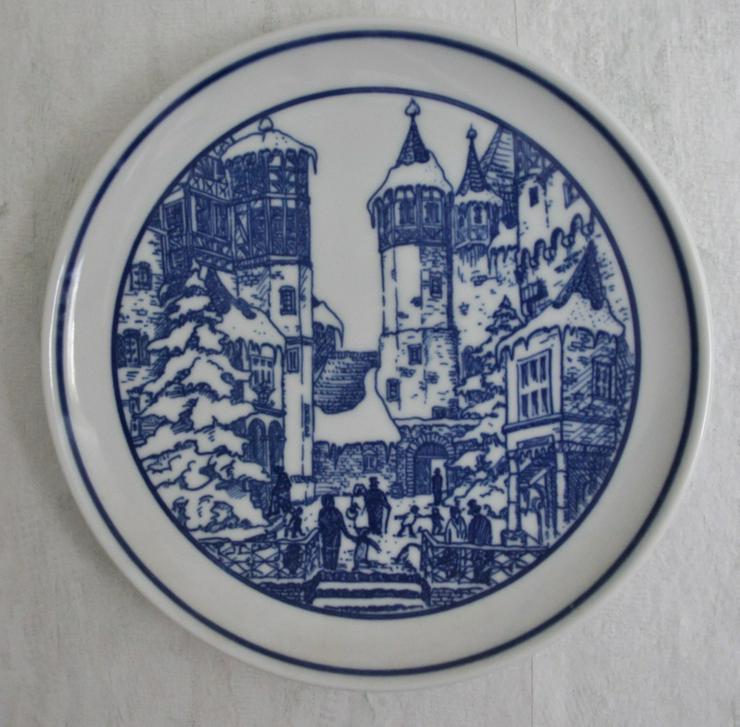 Porzelan Wandteller Burg Eltz Original