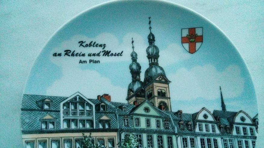 Bild 2: Wandteller Koblenz an Rhein und Mosel am Plan