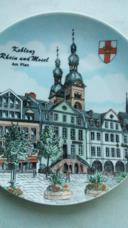 Bild 3: Wandteller Koblenz an Rhein und Mosel am Plan