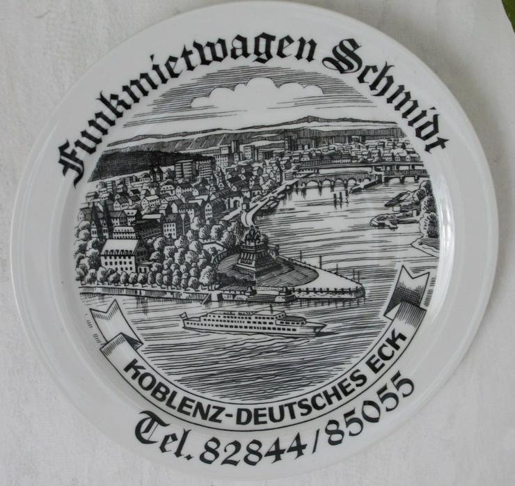 Porzellan Teller  Koblenz Deutsches Eck