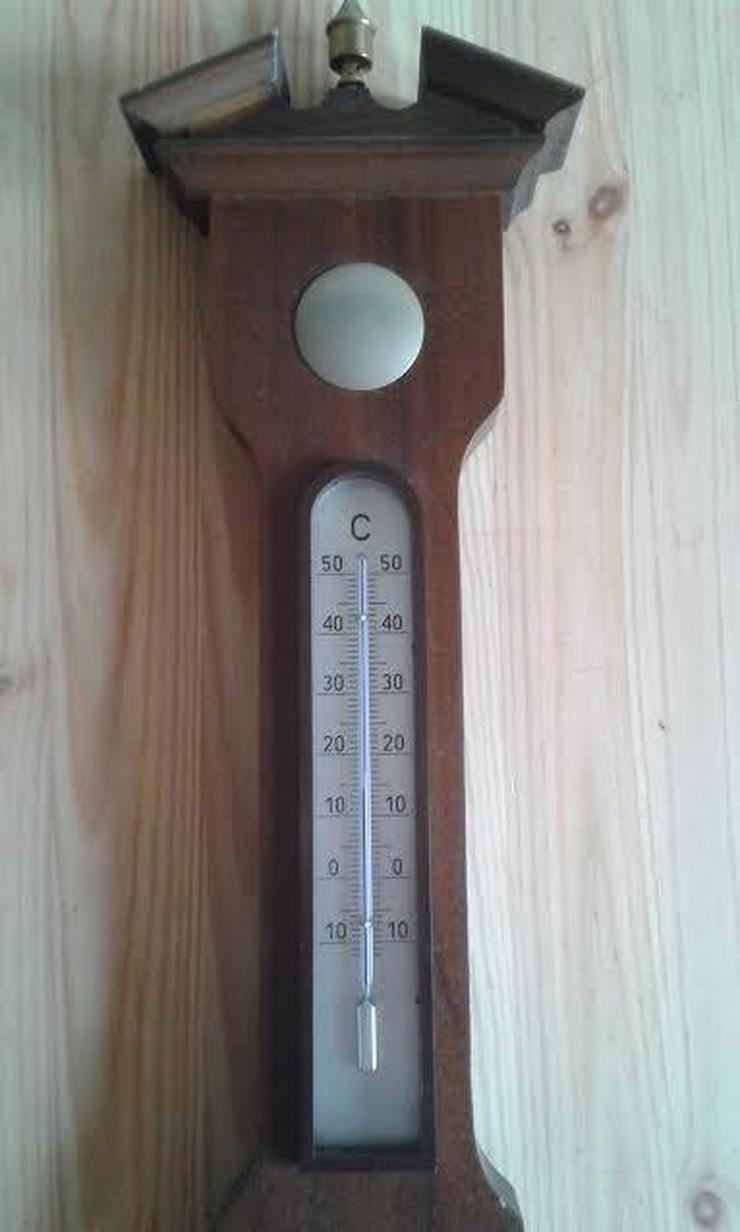 Bild 4: Analoge Wetterstation aus Holz