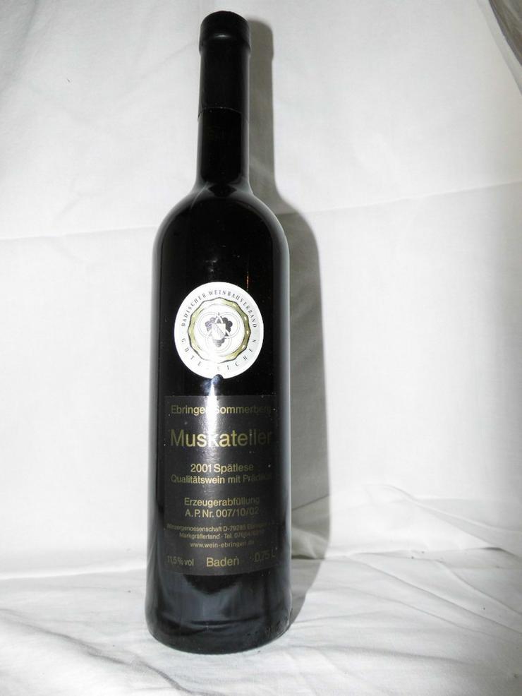 1 Flasche Ebringer Sommerberg 2001, Muskatelle