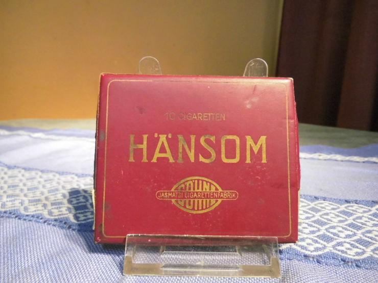 Antike Zigarettenschachtel aus Pappe Marke Hän