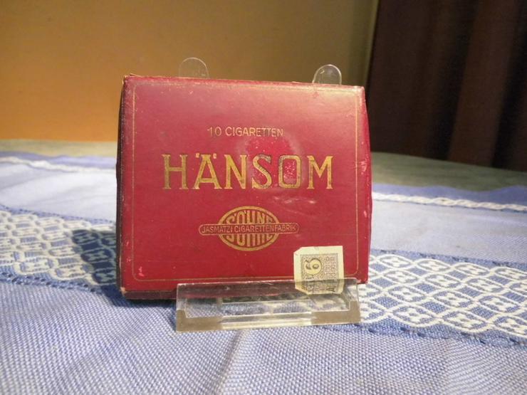 Antike Zigarettenschachtel Pappe Marke Hänsom