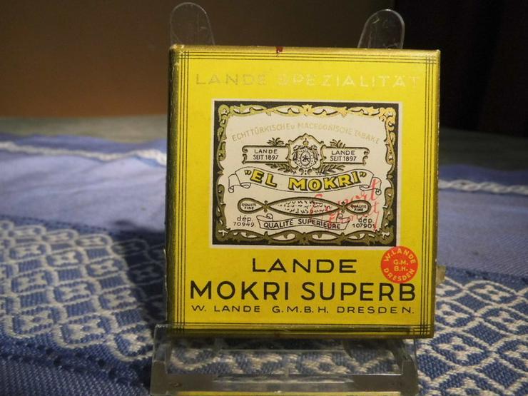 Antike Zigarettenschachtel Pappe Marke Lande M