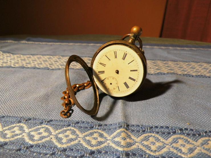 Taschenuhr Remontoir Silber vergoldet um 1890