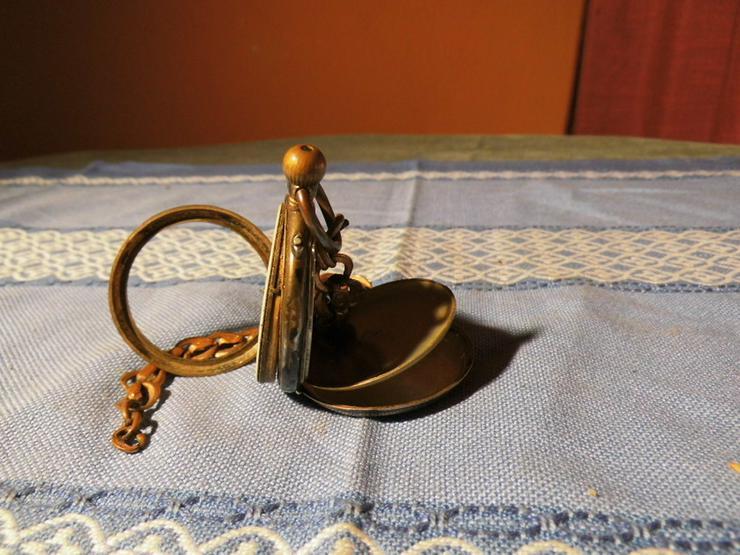 Bild 2: Taschenuhr Remontoir Silber vergoldet um 1890