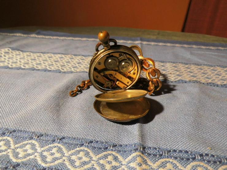 Bild 3: Taschenuhr Remontoir Silber vergoldet um 1890