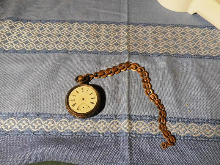 Bild 6: Taschenuhr Remontoir Silber vergoldet um 1890