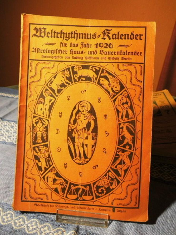 Bild 5: 4 antike astrologische Bücher / Weltrhytmuskal