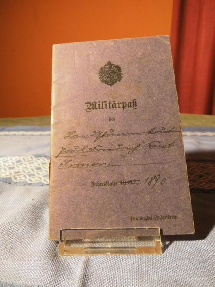 Militärpass Deutsches Kaiserreich 1915 / 1916