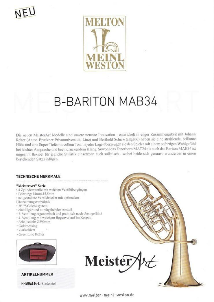 Bild 4: Melton MeisterArt Tenorhorn MAT24, Goldmessing