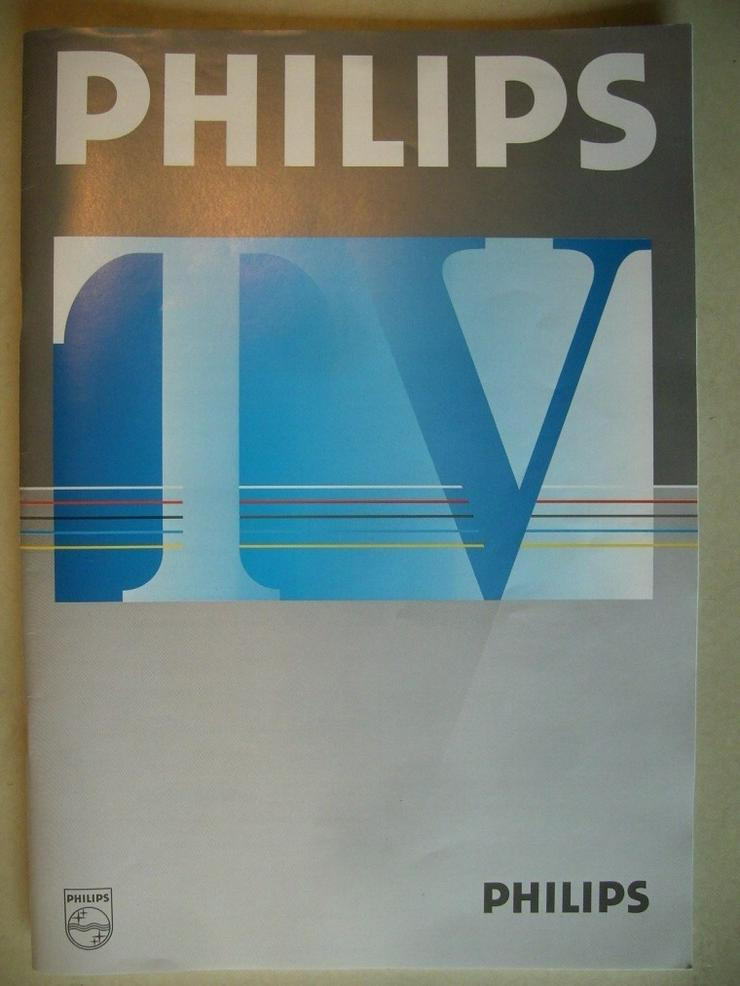 PHILIPS-TV Bedienungsanleitung + Schaltpläne