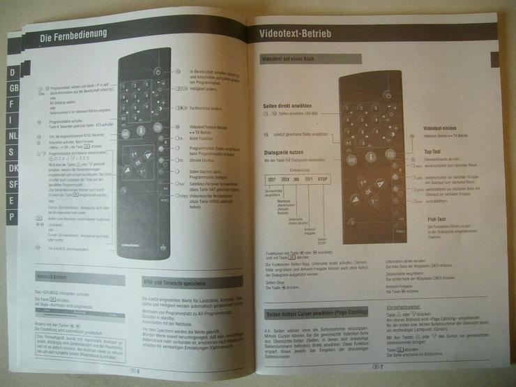 Bild 3: GRUNDIG-TV Bedienungsanleitung + Schaltplan