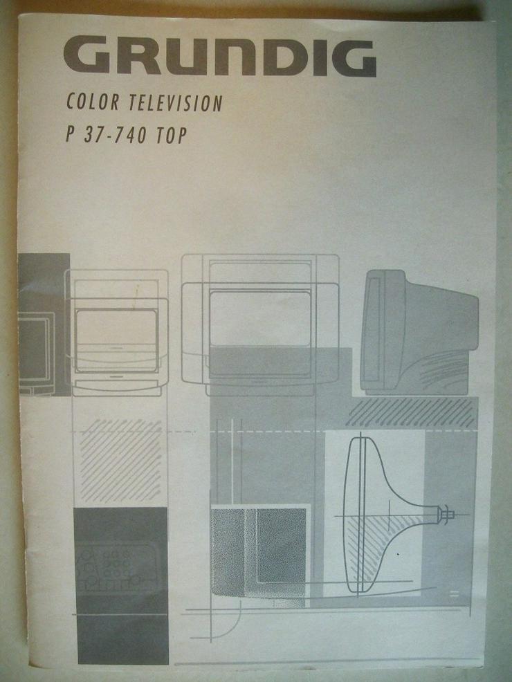GRUNDIG TV P 37-740 TOP Bedienungsanleitung + Schaltplan - Weitere - Bild 1