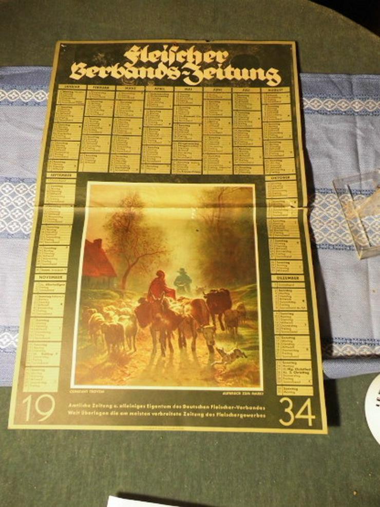 Antiker Jahreskalender 1934 der Fleischer- Ver