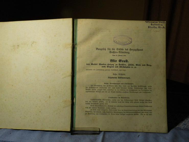 Antikes Gesetzbuch / Baurecht für Städte und D