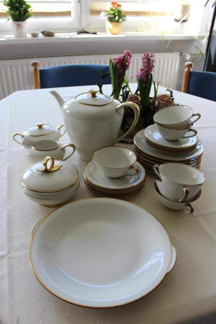 Kaffee-Geschirr, Goldrand, 43-teilig