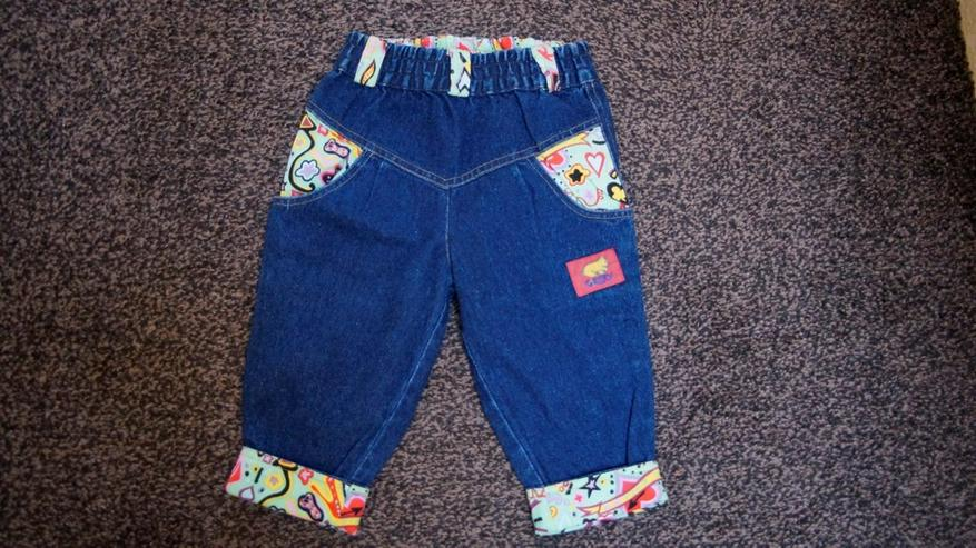 Jeans mit Stoff, Gr. 80, Jacky, NEU