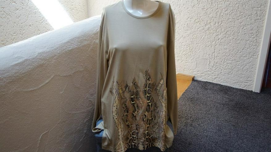 Shirt-Schlangenprint, Gr. 46, beige, MM, Neu