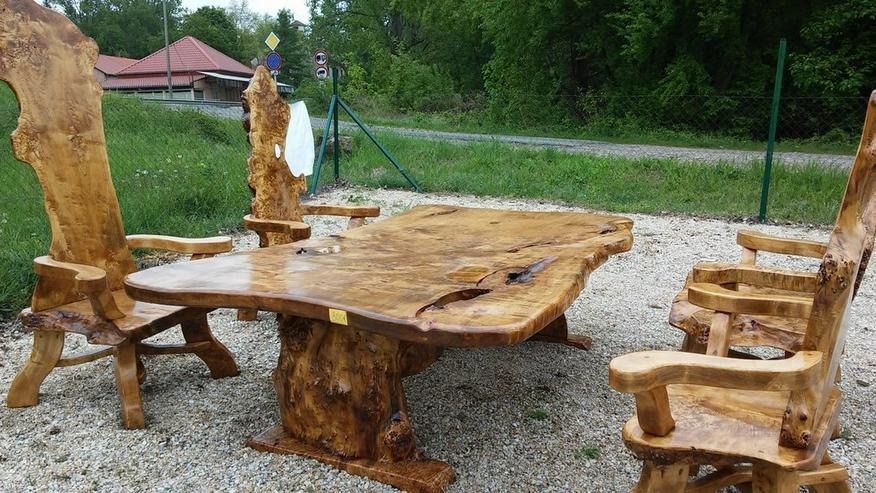 Bild 5: Rustikale Holzgarnitur, wunderschön