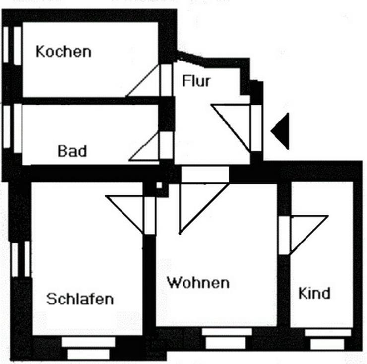 Bild 2: Kleine 3-Raum-Wohnung!