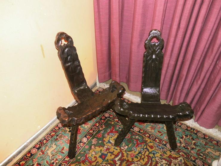 2 schöne antike Wurzelholzstühle um 1900 / Dre - Stühle, Bänke & Sitzmöbel - Bild 1