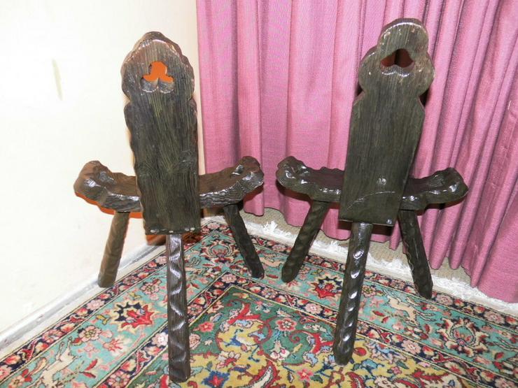 Bild 4: 2 schöne antike Wurzelholzstühle um 1900 / Dre