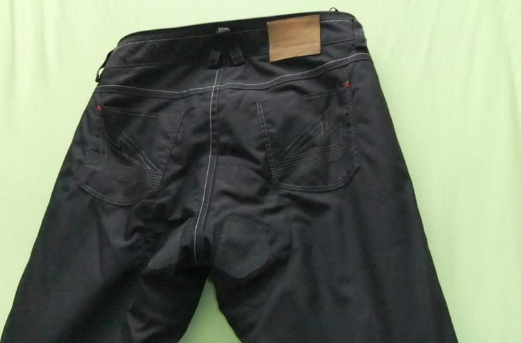 Bild 2: Motorrad Herrenhose Gr.26, schwarz