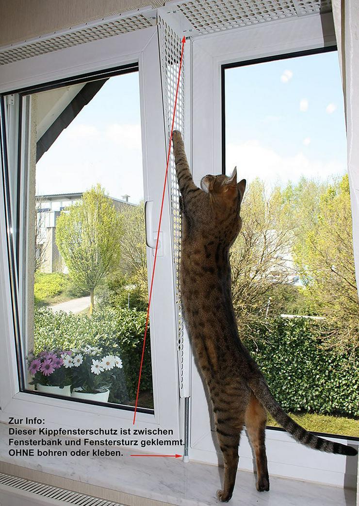 Kippfensterschutz, Schutzgitter, Katzensicherheit für Fenster, OHNE BOHREN OHNE KLEBEN