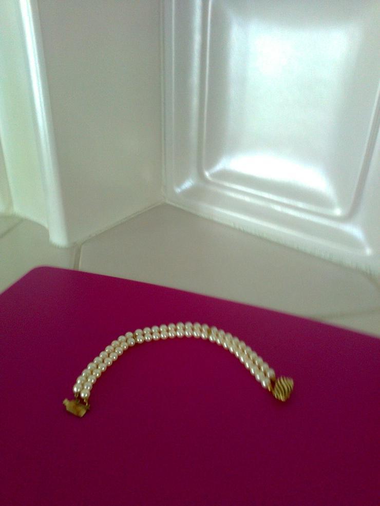 Bild 3: Perlen-Armband mit Goldverschluss - 2-reihig
