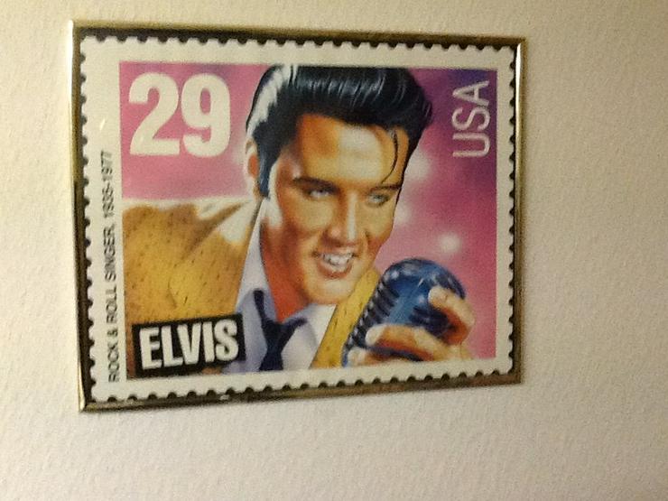 Elvis-Briefmarke als Wandbild- selten