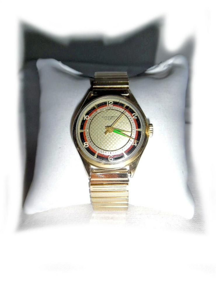 Goldene Junghans Armbanduhr - Herren Armbanduhren - Bild 1