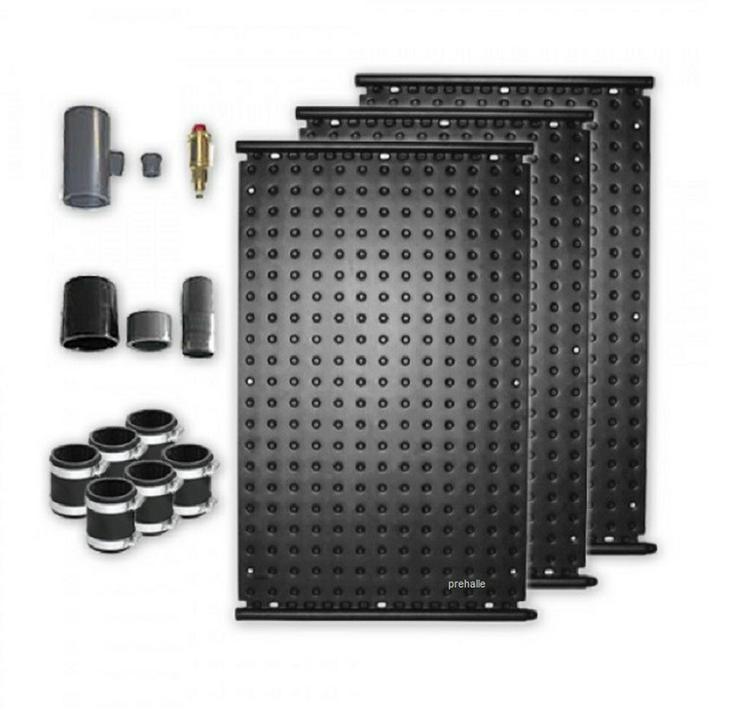 1A Pool Solarabsorber Set 3,3 m2 HDPE Matte