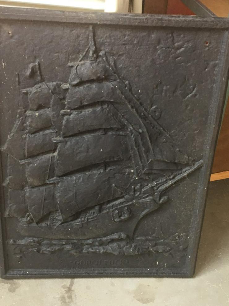 Antike Ofenplatte, Gussplatte sehr gut erhalten - Metallbilder - Bild 1