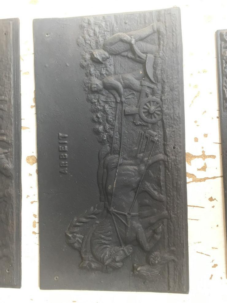 Bild 2: Antike Ofenplatte, Gussplatte sehr gut erhalten